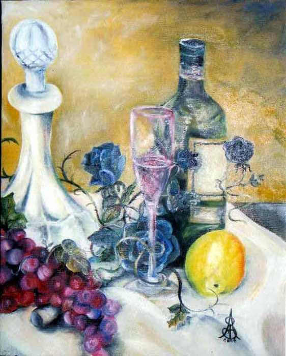 Still Life Painting - Crystal Clear by Amanda  Sanford