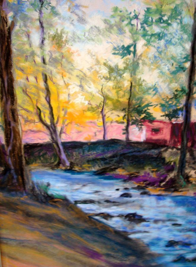 Landscape Painting - Crystal Clear Creek by Anne Dentler