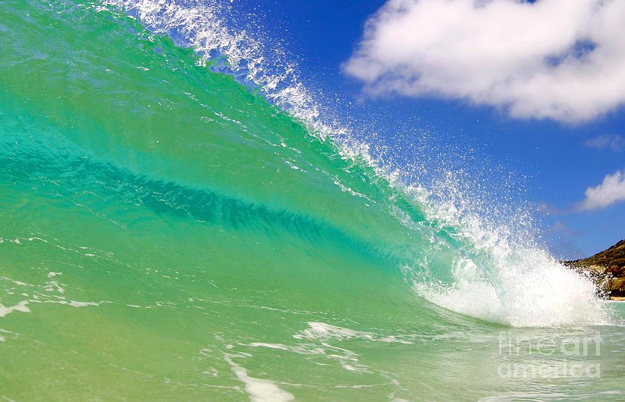 Ocean Photograph - Crystal Clear Wave by Paul Topp