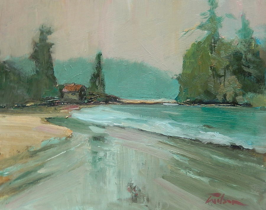 Crystal Cove Painting - Crystal Cove Beach by Ron Wilson