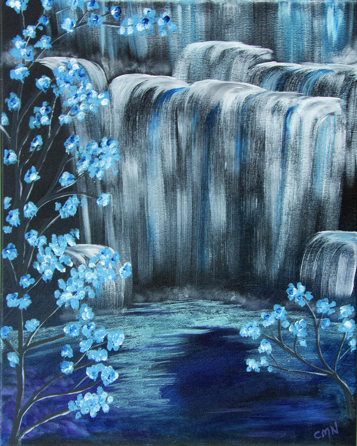 Water Painting - Crystal Falls by Christie Nicklay