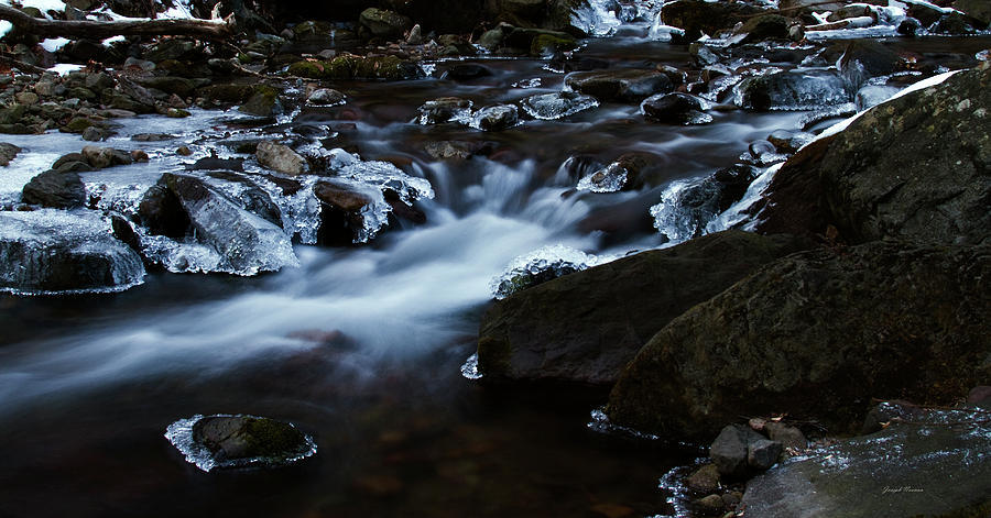 Landscape Photograph - Crystal Flows In Hdr by Joseph Noonan