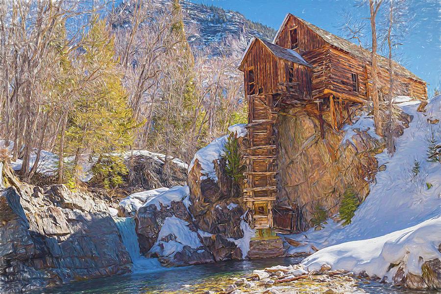 Crystal Mills Colorado An Antique Powerhouse. Photograph