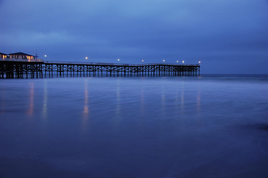 Crystal Pier Photograph - Crystal Pier Blue by Kelly Wade