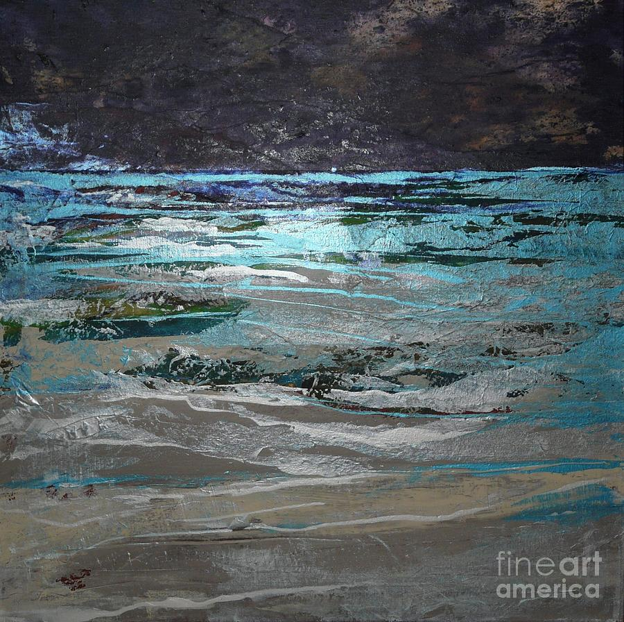 Acrylic Painting - Crystal Sea by Donna McLarty