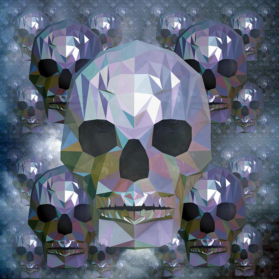 Crystal Skulls Digital Art
