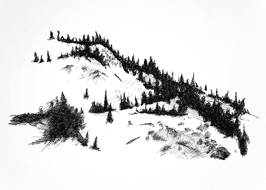 Snow Drawing - Crystal View by Paul Illian