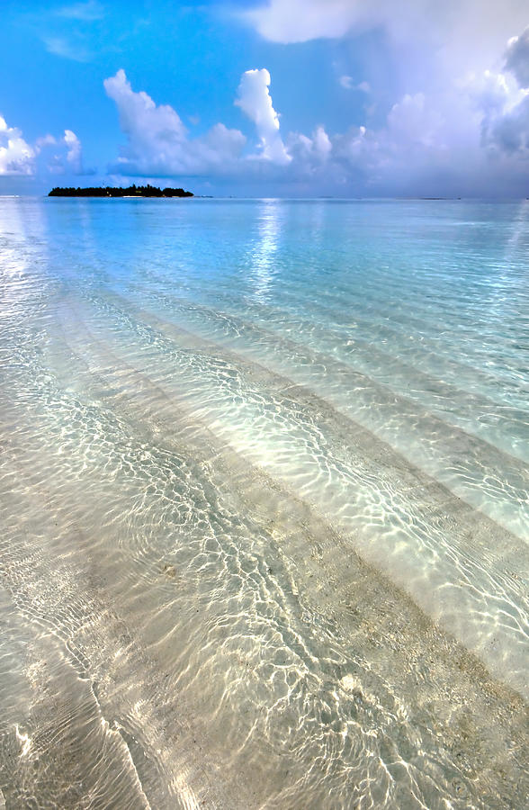 Maldives Photograph - Crystal Water Of The Ocean by Jenny Rainbow