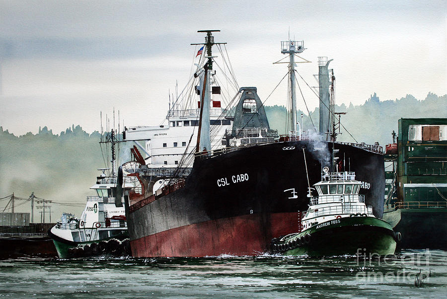 Tugs Painting - CSL CABO Tug Assist by James Williamson
