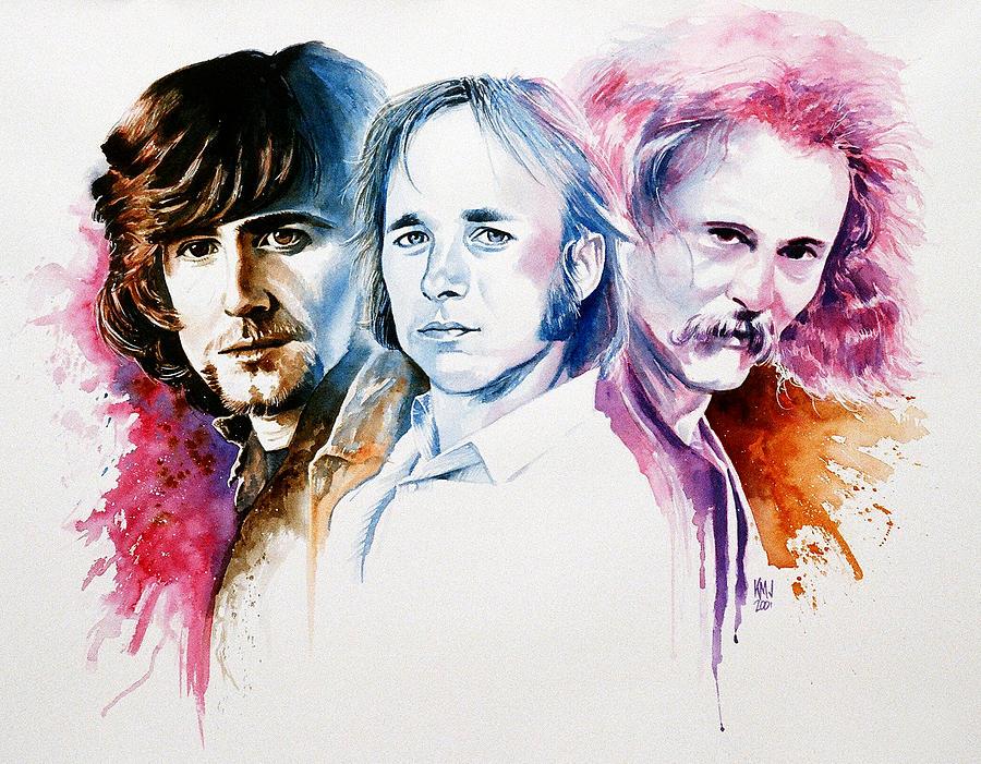 David Crosby Painting - CSN by Ken Meyer jr