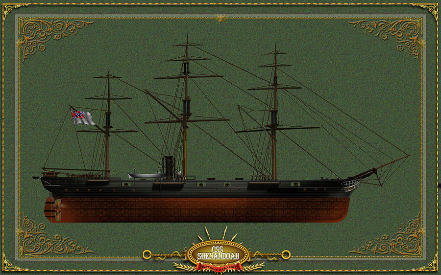 CSS Shenandoah Digital Art by The Collectioner