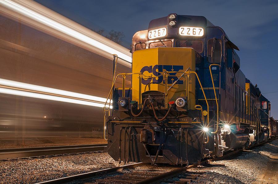 CSX 2267 Work Train in Clinton by Derek Thornton