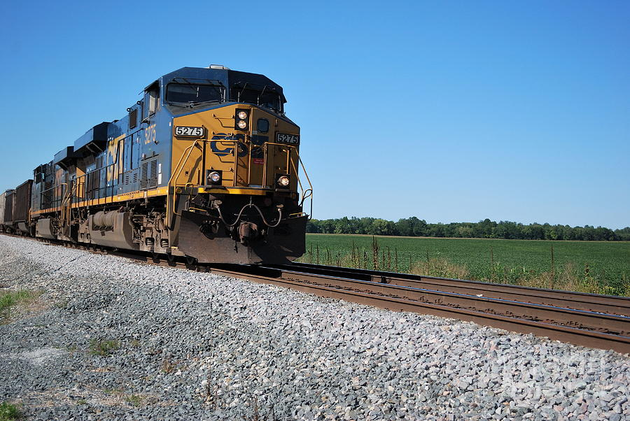 Train Photograph - Csx Train Engine by Pamela Baker