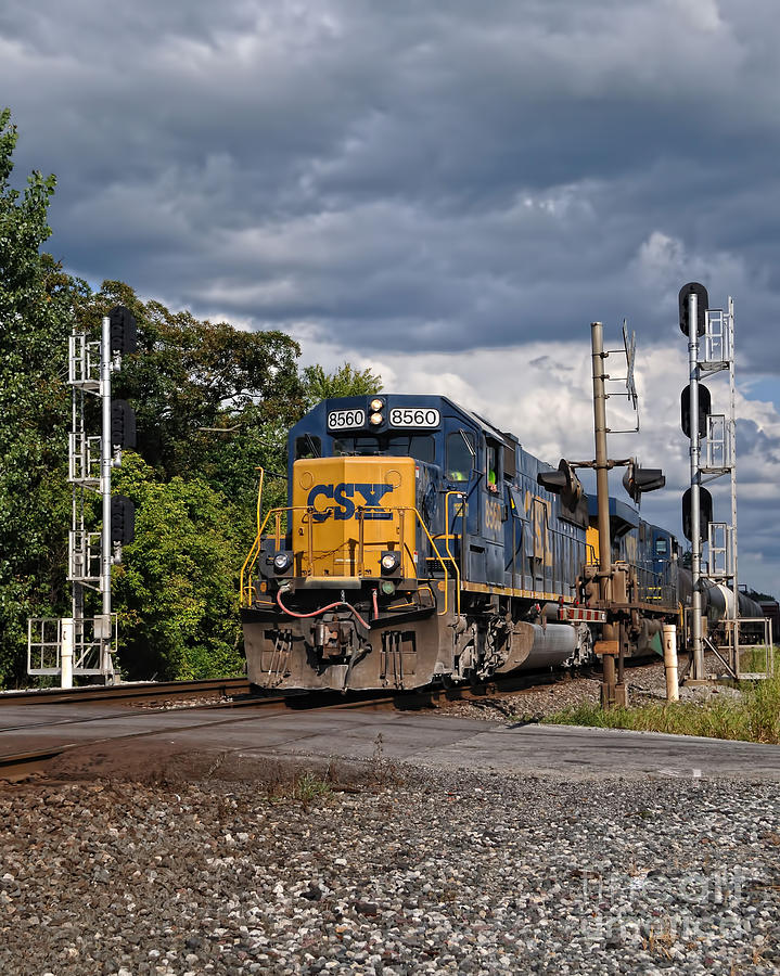 Train Photograph - Csx Train Headed West by Pamela Baker