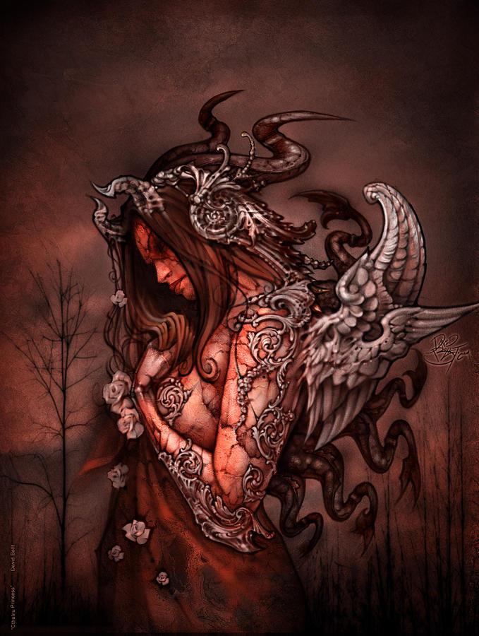 Fairy Painting - Cthluhu Princess by David Bollt