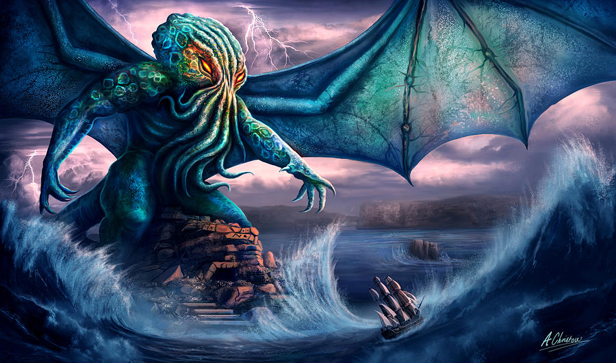 Cthulhu Painting - Cthulhu by Anthony Christou