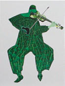 Cuarteto Series Violin 2 Painting by Victor Varela