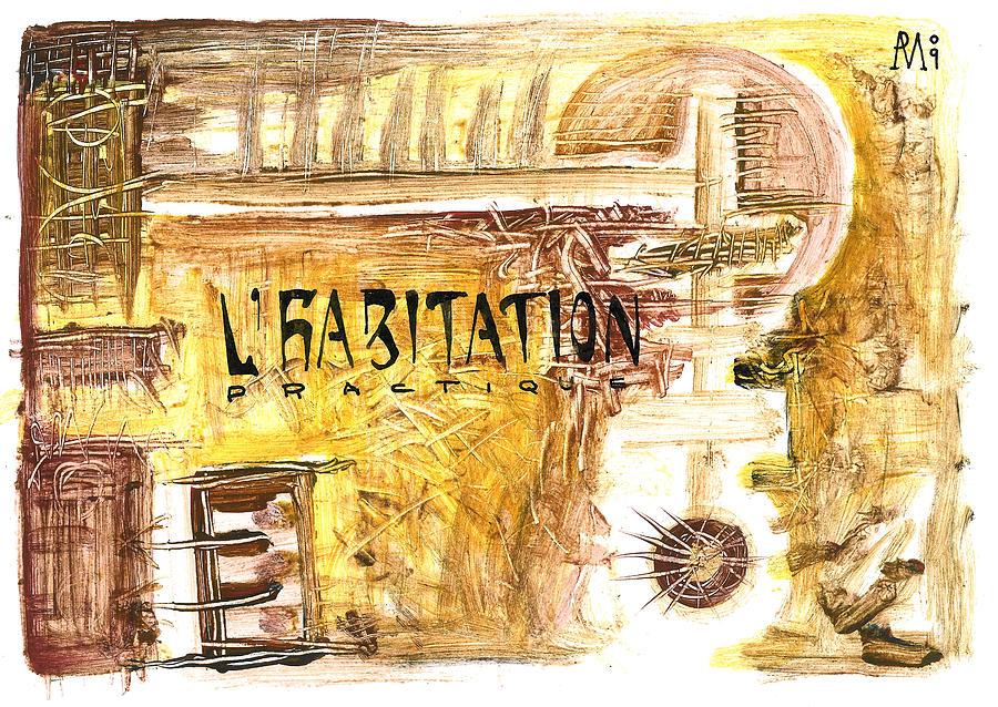 Collage Painting - Cuarto Menguante by Armando Ruiz