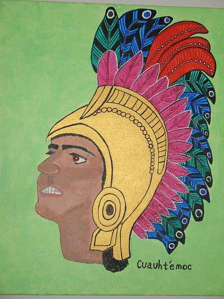 Aztec Painting - Cuauhtemoc The Last Aztec Emperor by Dave Raya