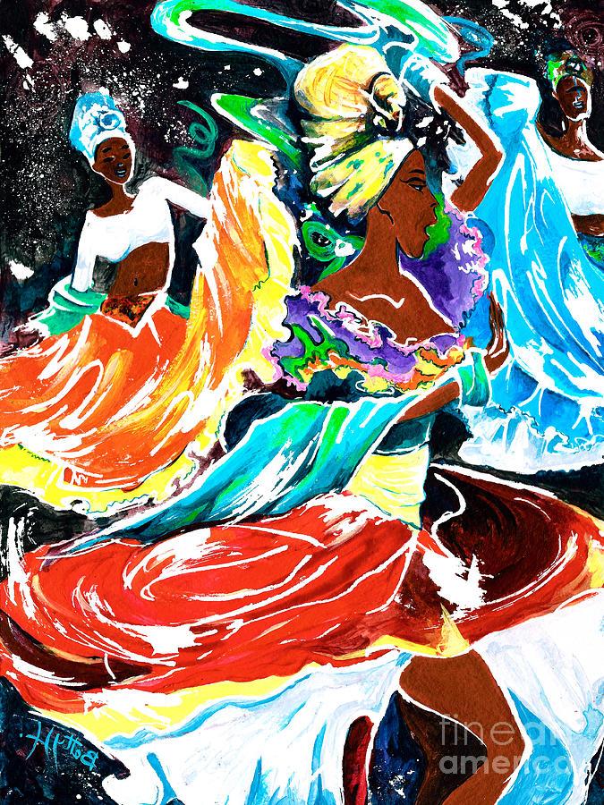 Rhythm Painting - Cuban Dancers - Magical Rhythms... by Elisabeta Hermann