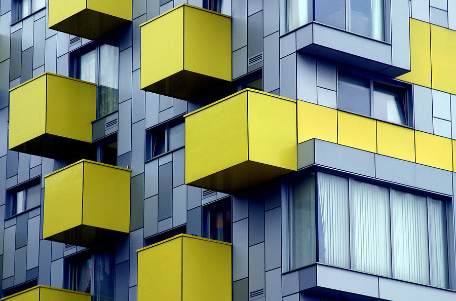 Photographer Photograph - Cubed Yellow by Jez C Self