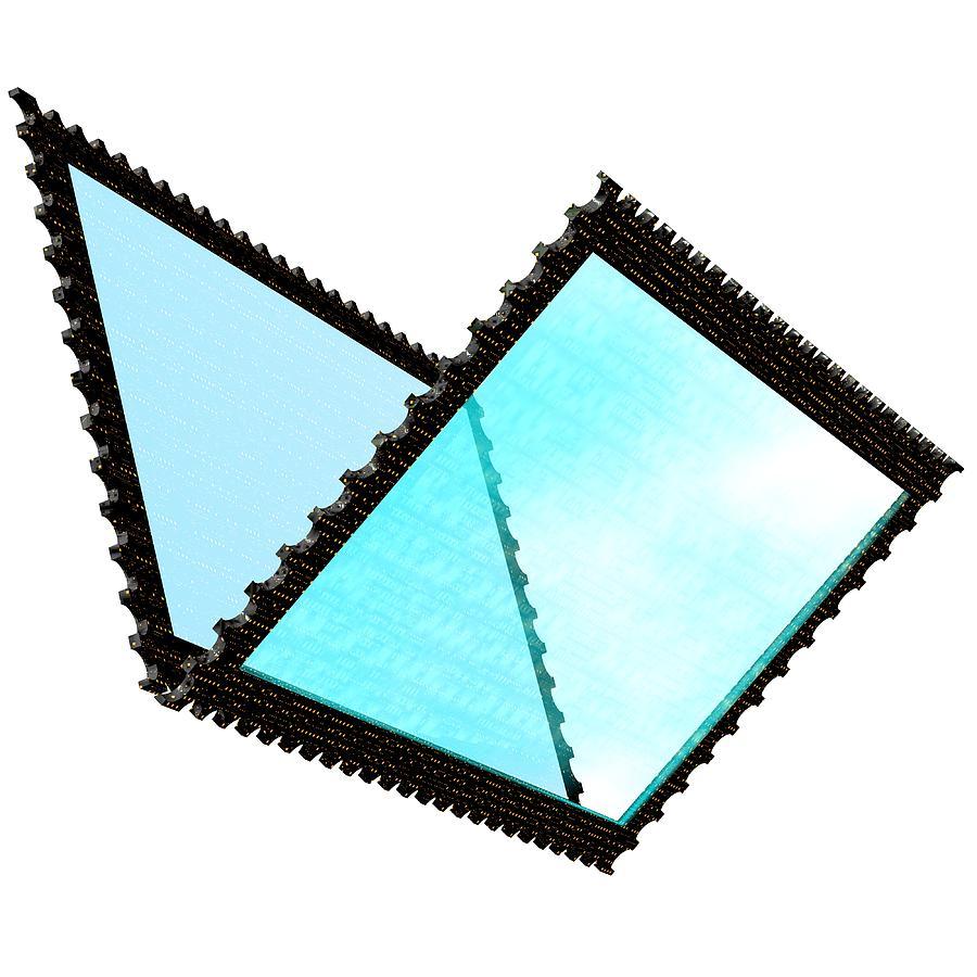 Stamp Digital Art - Cubepolis 3d Stamp Folder Uof0111c by Taketo Takahashi