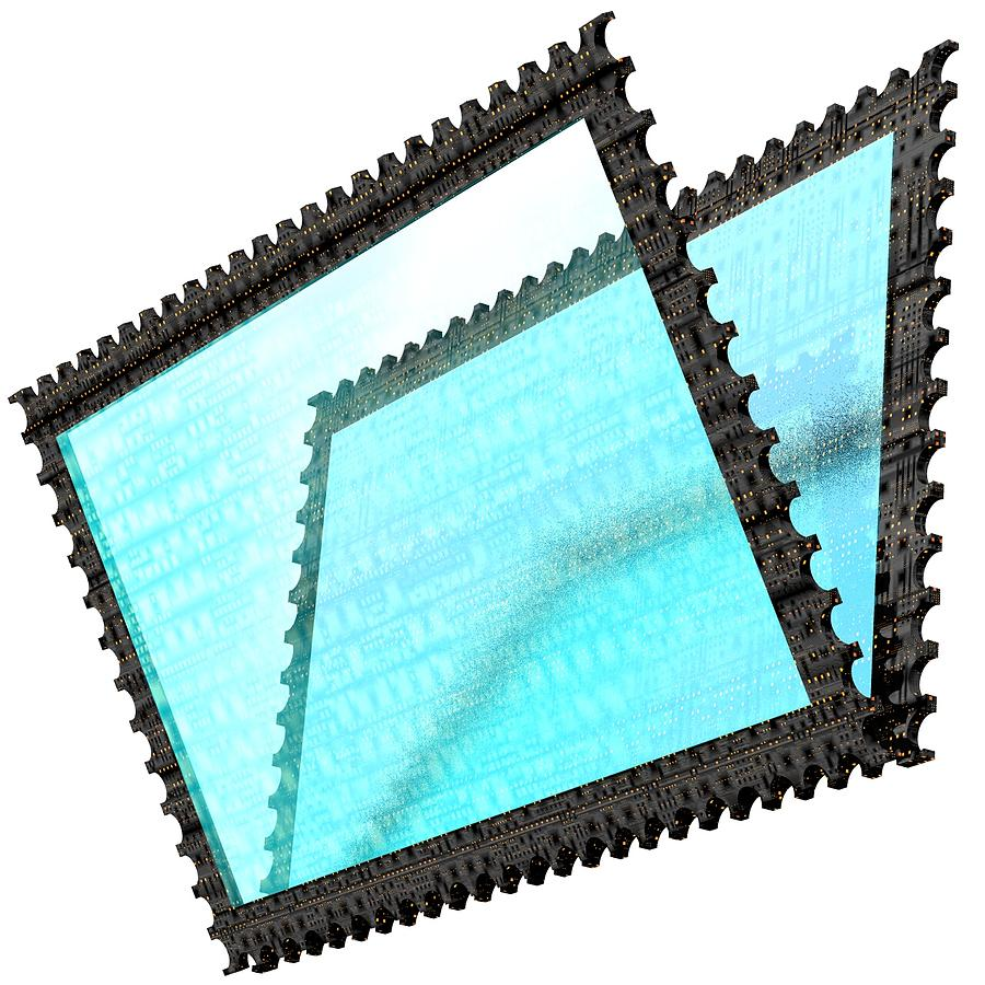 Stamp Digital Art - Cubepolis 3d Stamp Folder Vcf0111c by Taketo Takahashi