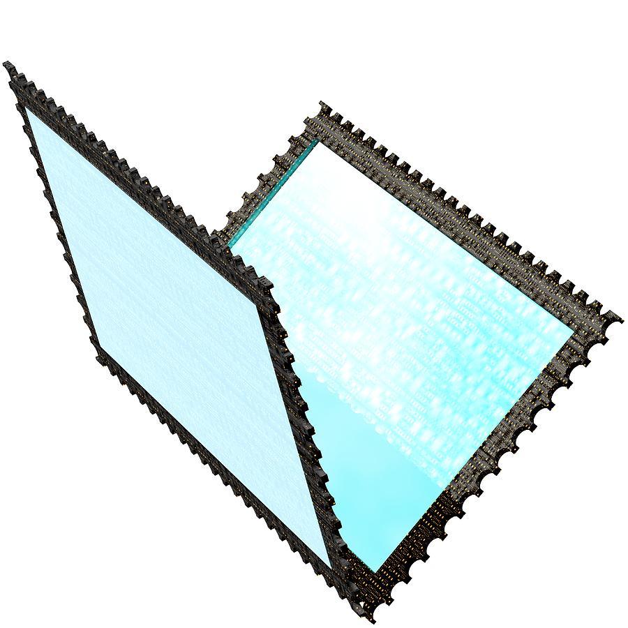 Stamp Digital Art - Cubepolis 3d Stamp Folder Yof0111c by Taketo Takahashi