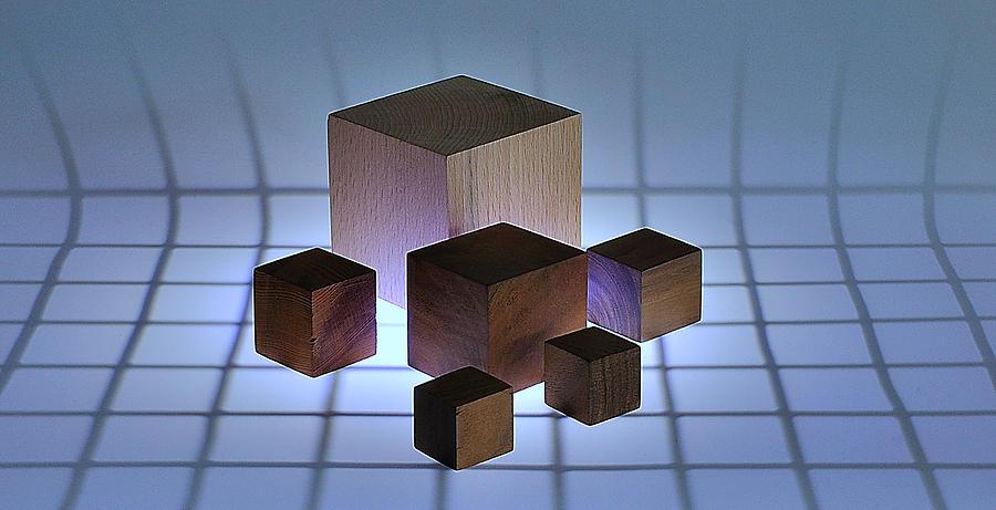 Cube Photograph - Cubes by Mark Fuller