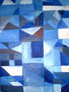 Gallery Painting - Cubisem.1 by Lotte Pedersen
