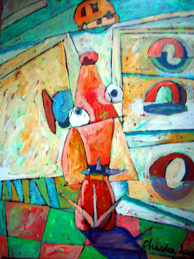 Cookies Painting - Cubist Cookie by Charlie Spear