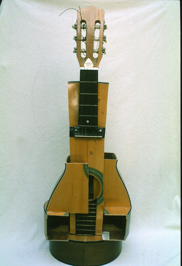 Guitar Sculpture - Cubist Guitar by Sara Allison