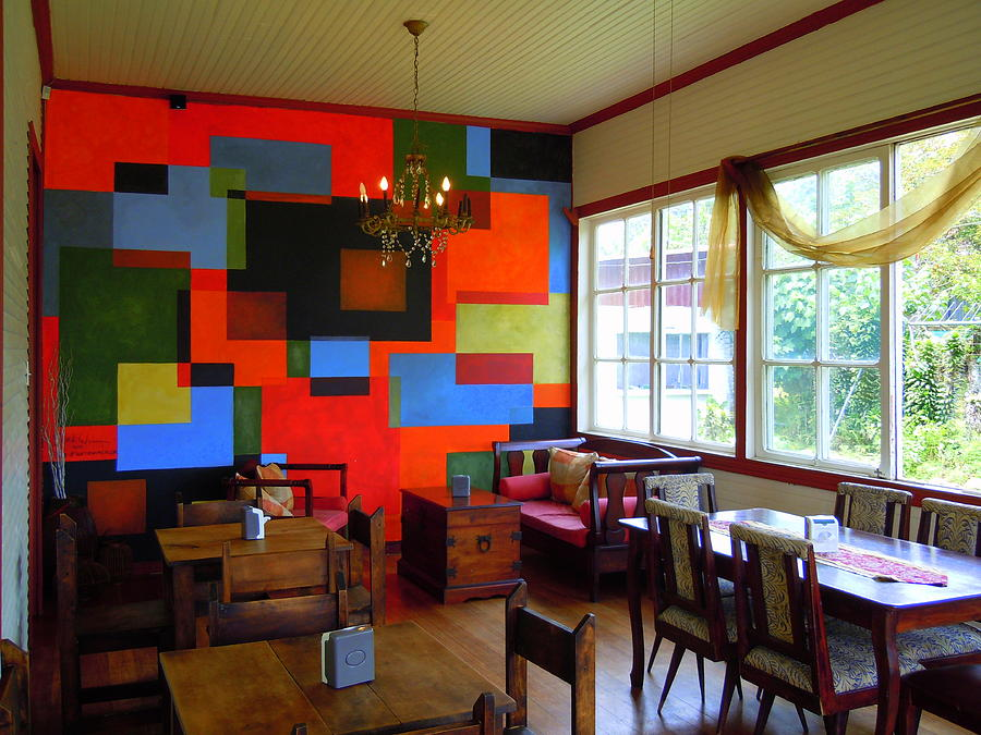 Cubist Mural At El Encanto Painting by Scott K Wimer