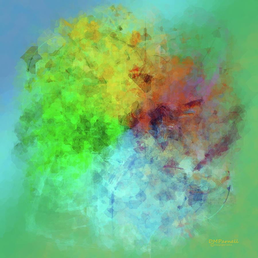 Cubist Digital Art - Cubist Rainbow Clouds by Diane Parnell
