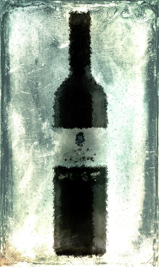 Red Digital Art - Cubist Red Wine by Andrea Barbieri