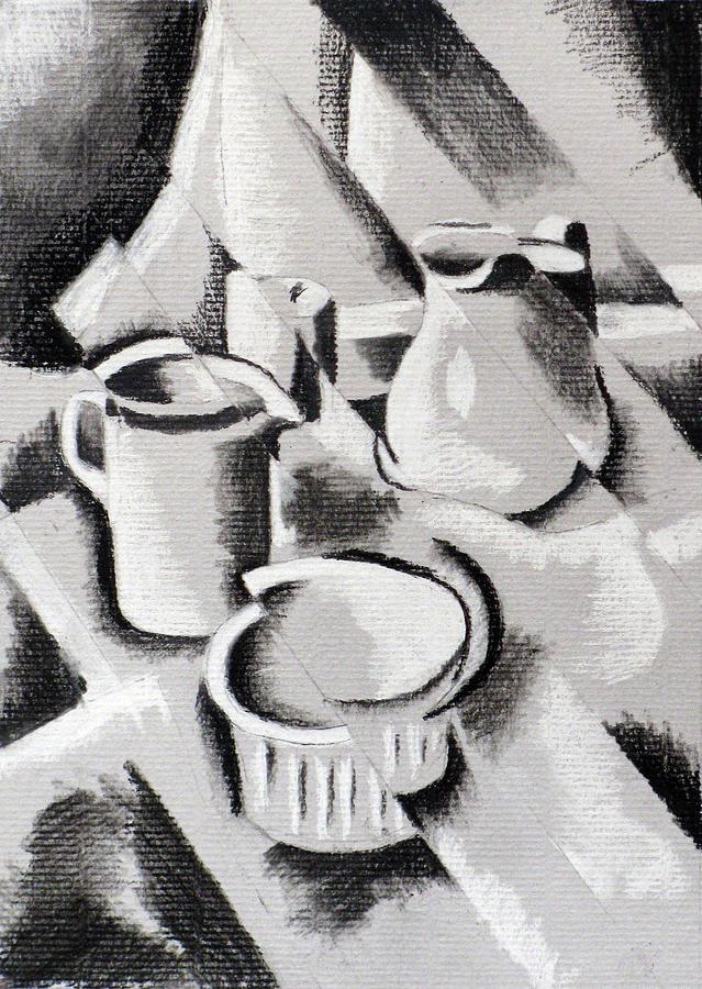 Cubist Still Life Drawing By Richard Long