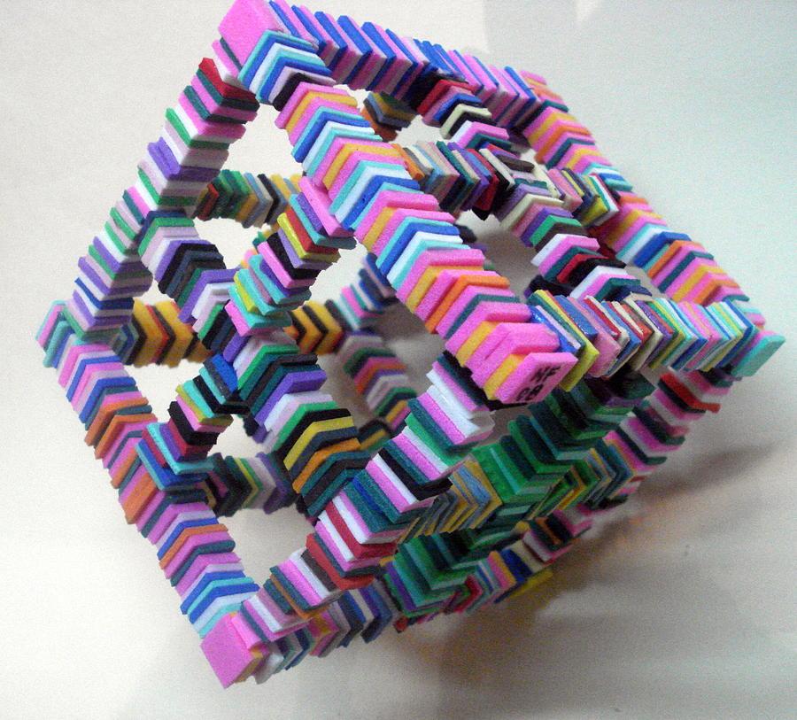 Rubber Sculpture - Cubocolor by Paulo Mendes Faria
