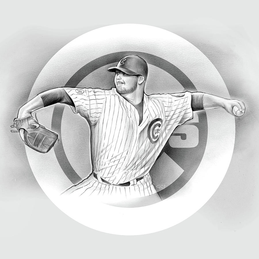 2016 Drawing - Cubs 2016 by Greg Joens