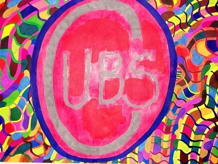 Sports Painting - Cubs Baseball by Jonathon Hansen