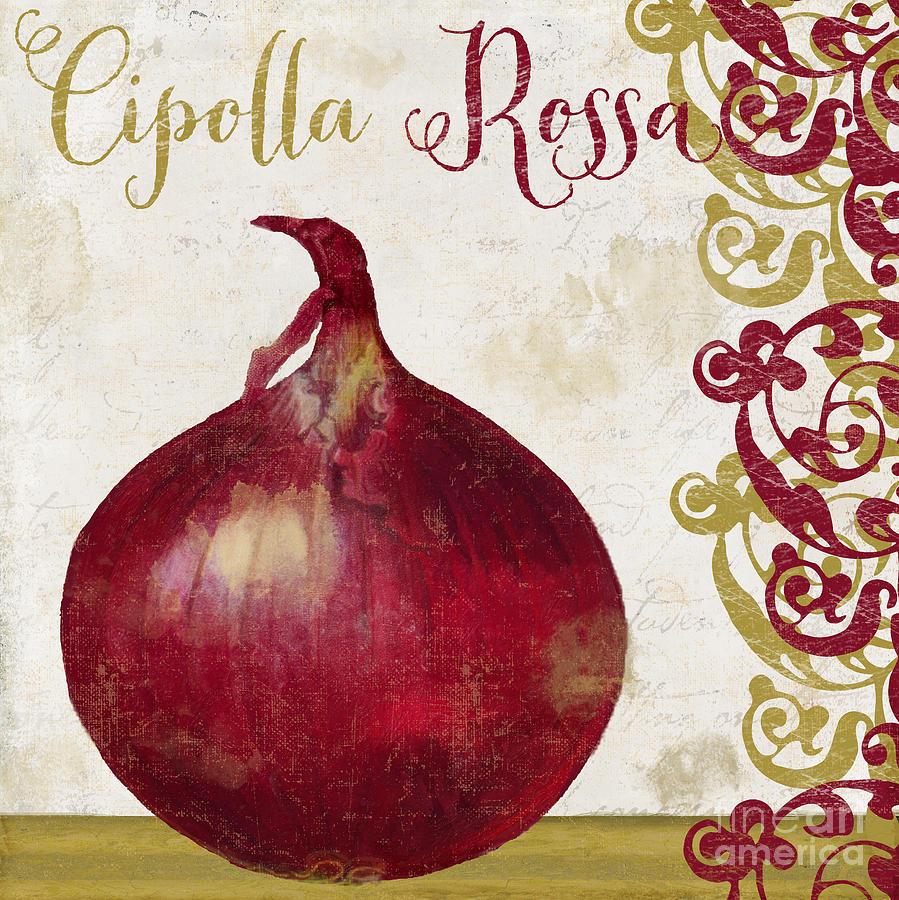 Cucina italiana onion painting by mindy sommers for Cucina italiana
