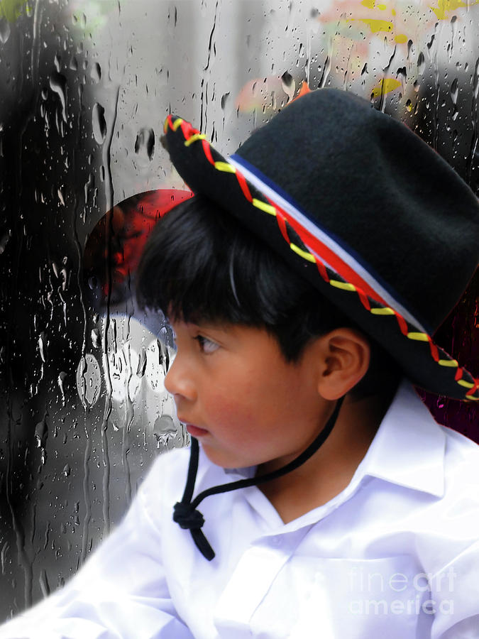 Rain Photograph - Cuenca Kids 880 by Al Bourassa