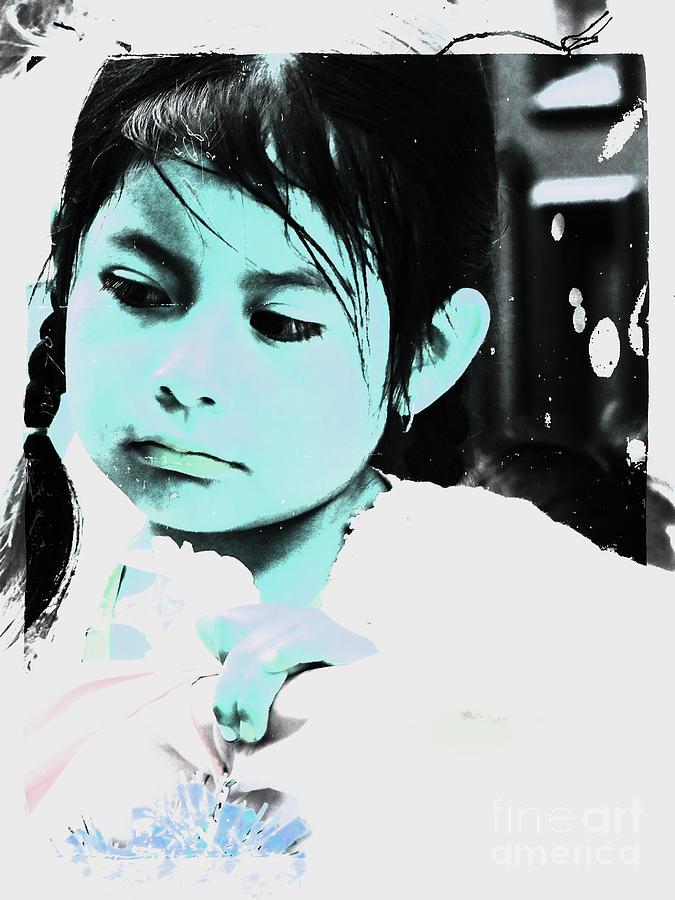 Girl Photograph - Cuenca Kids 886 by Al Bourassa