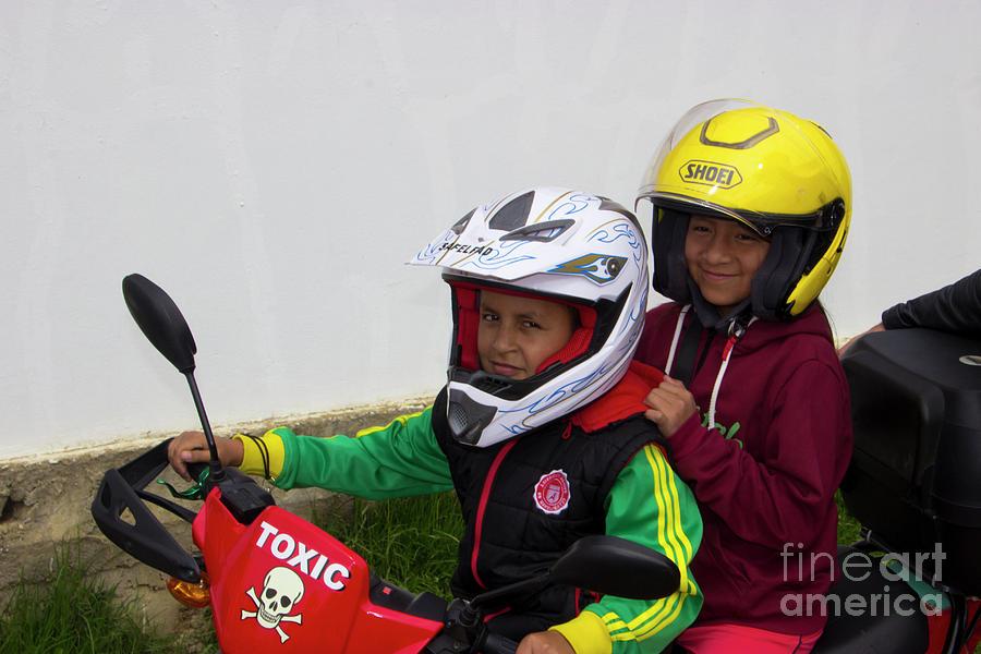 Sponsor Photograph - Cuenca Kids 889 by Al Bourassa