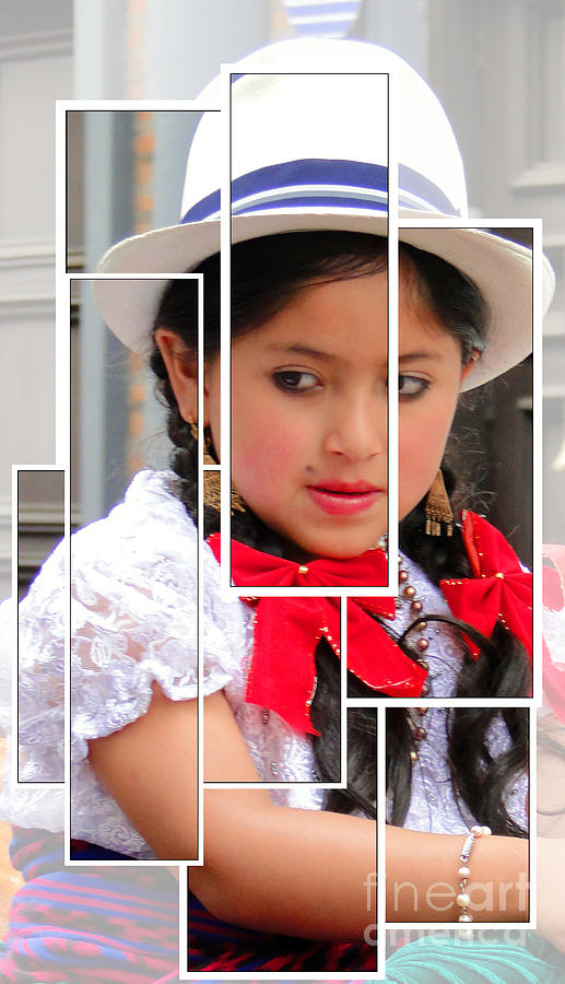 Expression Photograph - Cuenca Kids 890 by Al Bourassa