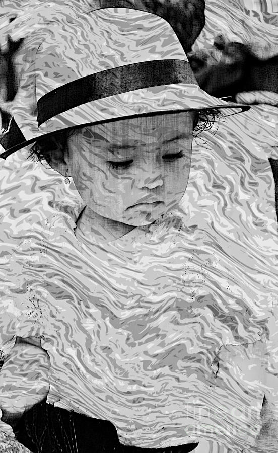 Girl Photograph - Cuenca Kids 894 by Al Bourassa