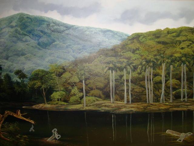 Cuban Scennery/winding Key Painting - Cuerda Nuestra De Cada Dia by Carlos Rodriguez Yorde