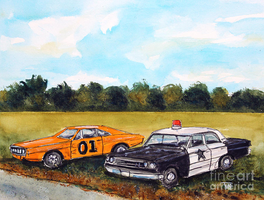 Barney Fife Painting - Cuff Em N Stuff Em by Tim Ross