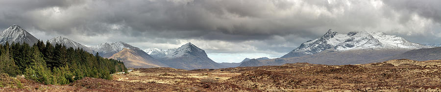 Glamaig Photograph - Cuillin Panorama by Grant Glendinning