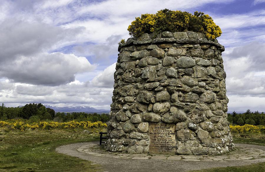 Cairn Photograph - Culloden Battlefield Cairn by Fran Gallogly