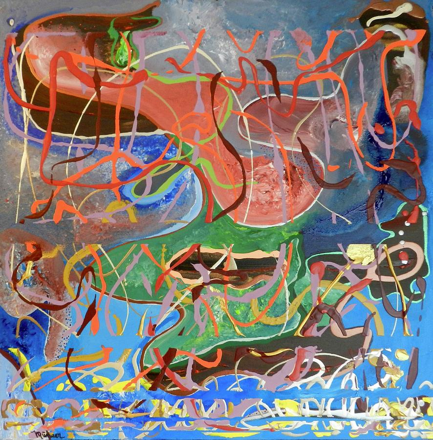Abstract Painting - Cultivating Restraint by Muneer McAdams-Mahmoud